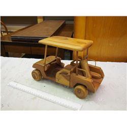 Wooden Golf Cart Toy