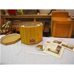 Vintage Hat Box And Prints