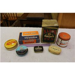 Lot of Vintage Tins (7)(Nabob, Flying Dutchman, Mixture, Etc)