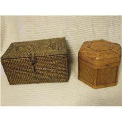 Vintage Wicker Boxes (2)
