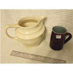Red Wing Pottery Mug And England Pottery Jug
