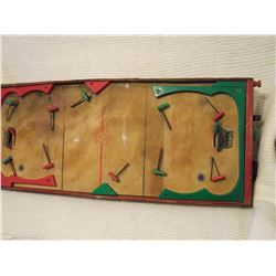 1940's Wooden Hockey Game All Complete Works, Made In Canada