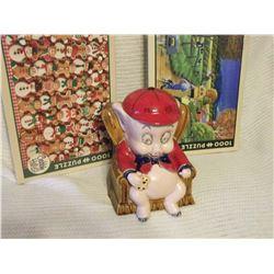 Cobble Hill 1000pc Puzzles (2) W/ Porky Pig Cookie Jar