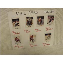 NHL Esso 1988-89 Signed Hockey Cards