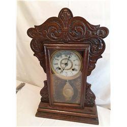 Vintage Wooden New Haven Clock