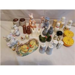 18 Sets Of Salt And Pepper Shakers