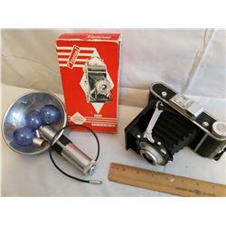 Norca 1 Vintage Camera And Flash