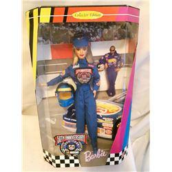 50th Anniversary Nascar Barbie, Sealed In Box