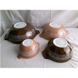 Set Of 4 Pyrex Mixing Bowls