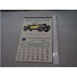 1980 Reproduction of 1925 Calendar, Original Cars