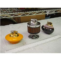 Lot Of 3 Table Lighters