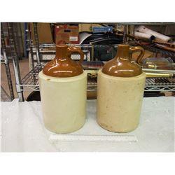 Pair Of 1 Gal Whiskey Crocks
