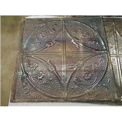 19x19 Tin Ceiling Tiles, Refinished (SOLD 4 TIMES THE MONEY)
