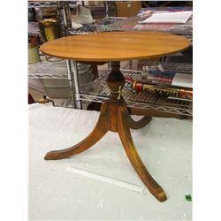 Vintage Wooden End Table, One Leg Damaged