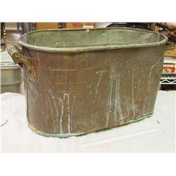 Heavily Dented Brass Tub