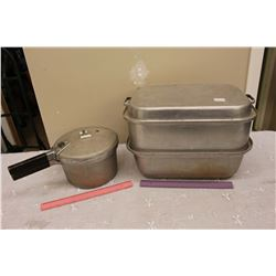 Antique Pressure Cooker & A Steamer