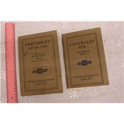 1928& 1929 Chevrolet Instruction Manuals