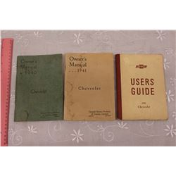 1940, 1941& 1942 Chevrolet Owners Manuals