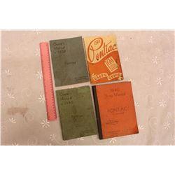 1939, 1940& 1948 Pontiac Owners Manuals& A 1940 Pontiac Shop Manual