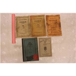 1926 & 1928 Essex Car Instruction Manuals, 1929 Hudson & 1934 Nash+Reo Truck Manuals