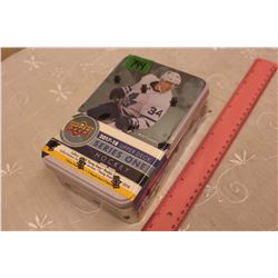 Sealed Collector's Tin of 2017-18 Upper Deck Series One Hockey Cards