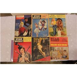 Lot of Star Weekly Publications