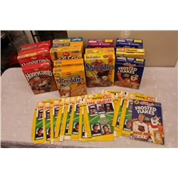 Lot of Sports Cereal Boxes: Wayne Gretzky, Eric Lindros, Brett Hull, Etc