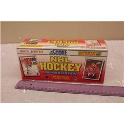 Sealed 1990 Score NHL Hockey Card Set, Premier Edition (445 Bilingual Cards)