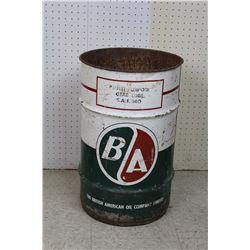 "British American 10 Gallon Oil Drum (23"" Tall)"