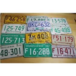 Lot of Vintage License Plates (13)