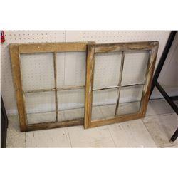 "Four Pane Barn Windows (2)(24.5""x 20"")"