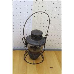 Stamped CNR Railway Lantern w/Original Adlake Globe