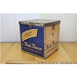 Peak Frean Paper Label Large Store Cookie Tin