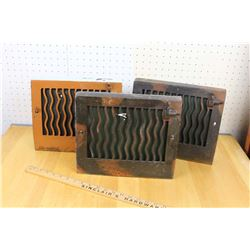 """7""""x10"""" Antique Wall Vent Covers (3)"""