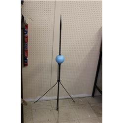 Original Lightening Rod w/Glass Blue Ball
