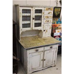 "Antique Hoosier Cupboard (64.5"" Tall, 40"" Wide, 28.5"" Deep)"