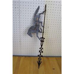 Authentic Antique Horse Weathervane Arrow