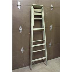 Vintage Wood 6ft Step Ladder