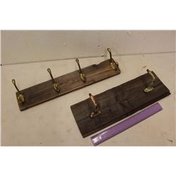 Barn Board Coat Hook Racks (2)