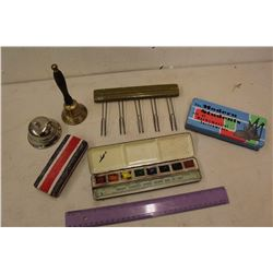 Vintage School Teacher Related (Bells, Brush, Paint Set, Etc)