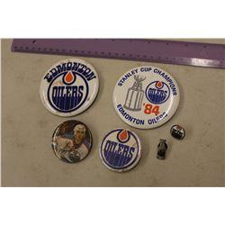 Vintage NHL Edmonton Oilers Pins