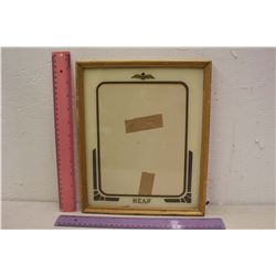WWII RCAF Reverse Painted Picture Frame