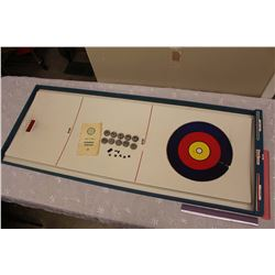 Vintage Bonspiel by Hubley Curling Board w/Rocks