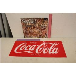 Enjoy Coco-Cola Plexiglass Sign & A 2013 Coke Calendar
