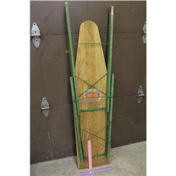 Vintage Western Crown Wooden Ironing Board