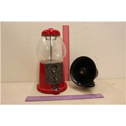 Vintage Carousel Bubble Gum Machine & A Horn Speaker