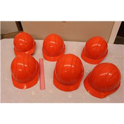Safety Hard Hat Helmets (6)(New)