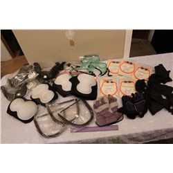 Lot of Safety Gear (Hard Hat Attachments, Hearing Protectors, Gloggles, Etc)
