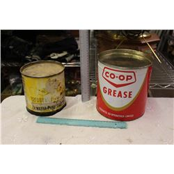 White Rose And Co-op Grease Tins
