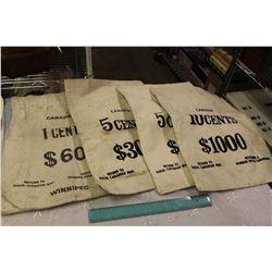 Lot Of Royal Canadian Mint Money Bags (1 cent, 5 cent, 10 cent)